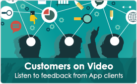 Customers on Video | Listen to feedback from App clients