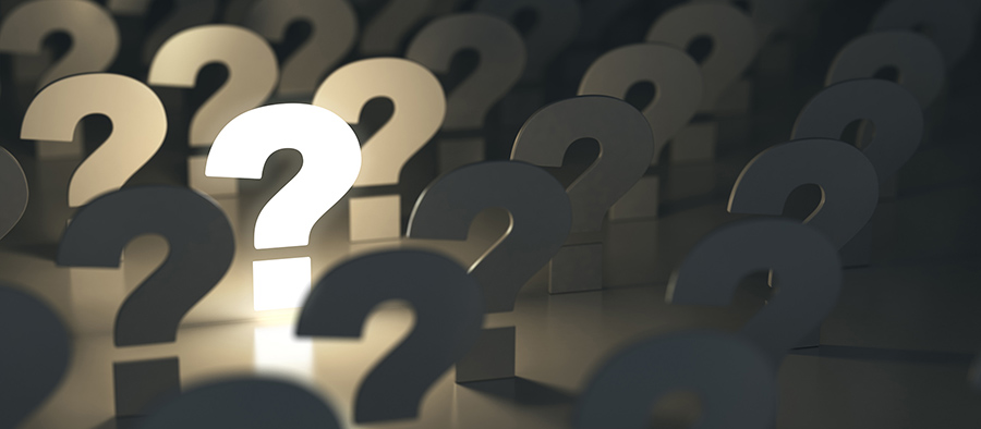 Question marks, Ideas or problem concepts